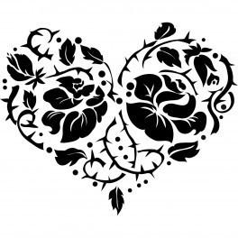 Autocolante - Coração Floral
