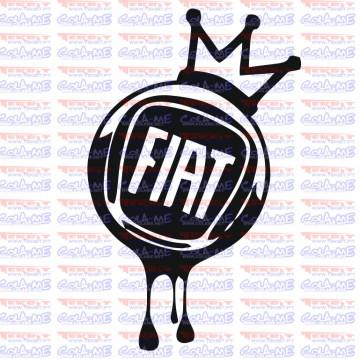Autocolante - Coroa Fiat