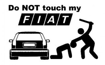 Autocolante - Do not touch my Fiat (punto)