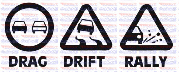 Autocolante -  Drag Drift Rally