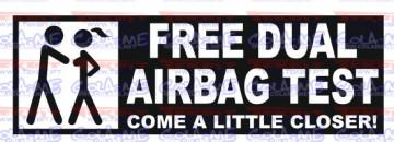 Autocolante - Free dual airbags tester