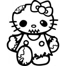 Autocolante - Hello Kitty Zombie 2