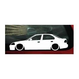 Autocolante - Honda Civic EJ 4 portas