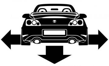Autocolante - Honda S2000 Cabrio - Traseira (Baixo e Largo)