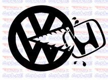 Autocolante - HONDA VS VW