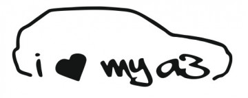 Autocolante - I Love my Audi A3 (8L)