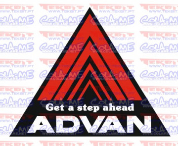 Autocolante Impresso - Get a step ahead ADVAN