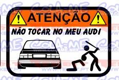 Autocolante Impresso - Não tocar no meu Audi 80 B2