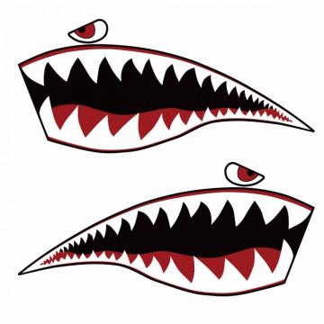 Autocolante Impresso - Tubarão - Dentada