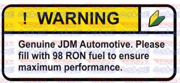 Autocolante Impresso - Warning - JDM