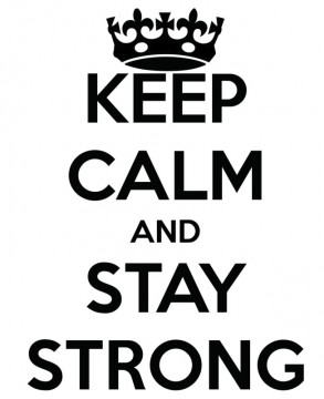 Autocolante - Keep calm and stay strong
