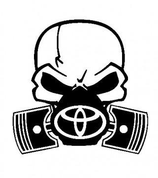 Autocolante - Máscara  de Gás TOYOTA