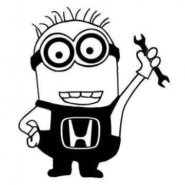 Autocolante - Minion Honda