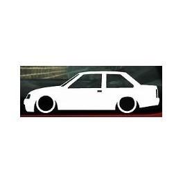 Autocolante - Opel Corsa A 2 Portas