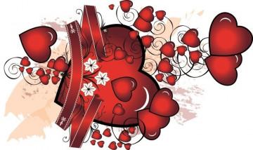 Autocolante para Portátil - Corações