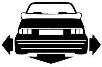 Autocolante para VW Golf 1 cabrio