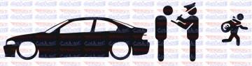 Autocolante - Policia e ladrões - BMW E46 Coupe