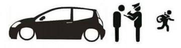 Autocolante - Policia e ladrões - Citroen C2