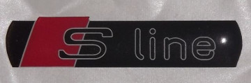 Autocolante Resinado 3D para Audi S-line - 100 x 22mm