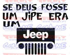 Autocolante - Se deus fosse um jipe era um jeep
