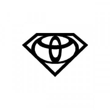 Autocolante - Toyota super homem
