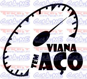 Autocolante - Viana tem aço