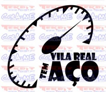 Autocolante - Vila Real tem aço