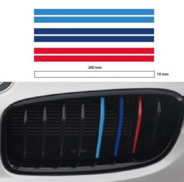 Autocolantes - Faixas BMW (azul claro, azul escuro, vermelho) 1x20cm