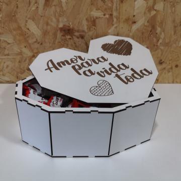 Caixa Para Chocolates / Guarda Joias - Coração Grande