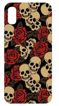 Capa de telemóvel com Caveiras e Rosas