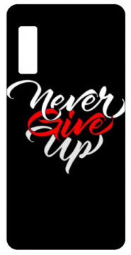 Capa de telemóvel com Never give up