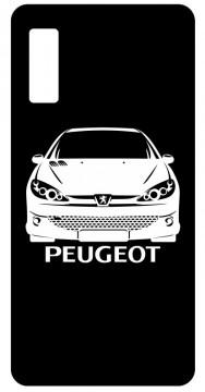 Capa de telemóvel com Peugeot 206 frente
