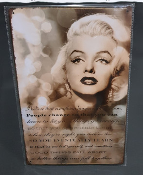 Chapa decorativa com Marilyn Monroe
