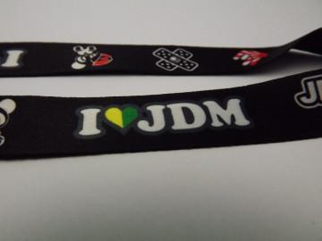 "Fita Porta Chaves com ""I Love JDM / Haters"""