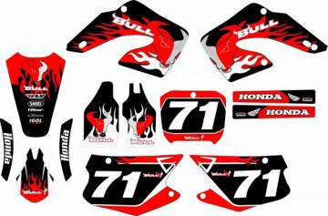 Kit Autocolantes Para Honda CR 125 / 250 00-01