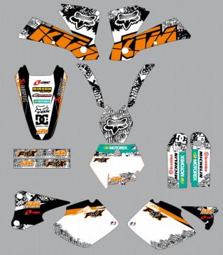 Kit Autocolantes Para  KTM SX MX 01-03