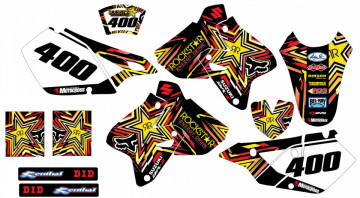 Kit Autocolantes Para Moto  - Suzuki DRZ 400 2002-2007 - Rockstar
