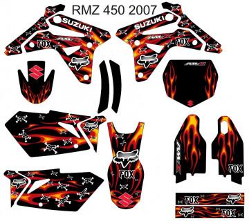 Kit Autocolantes Para Moto - Suzuki RMZ 450 2007