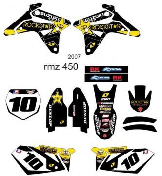 Kit Autocolantes Para RMZ 450 2007
