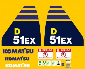 Kit de Autocolantes para KOMATSU D51EX