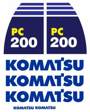 Kit de Autocolantes para KOMATSU PC200