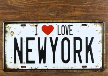 Matrícula decorativa - I Love NEWYORK