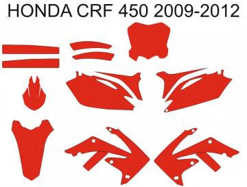 Molde - Honda CRF 450  2009 2010 2011 2012