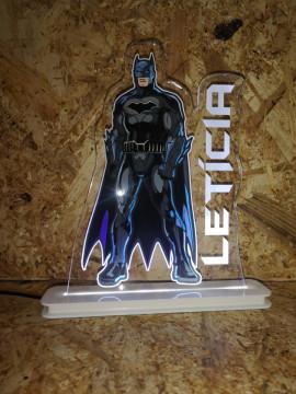 Moldura / Candeeiro com luz de presença - Batman + Nome