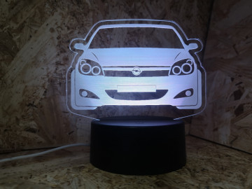 Moldura / Candeeiro com luz de presença - Opel Astra H