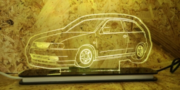 Moldura / Candeeiro com luz de presença - Seat Ibiza 6K