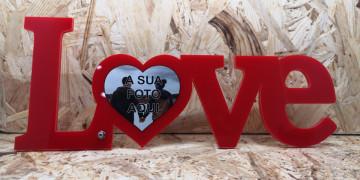 Moldura em acrílico - Love - com foto