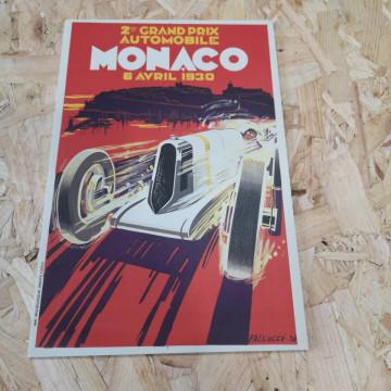 Placa Decorativa em PVC - Grand Prix Automibile Monaco