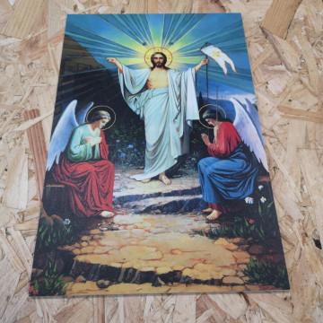 Placa Decorativa em PVC - Jesus Cisto Ressuscitado