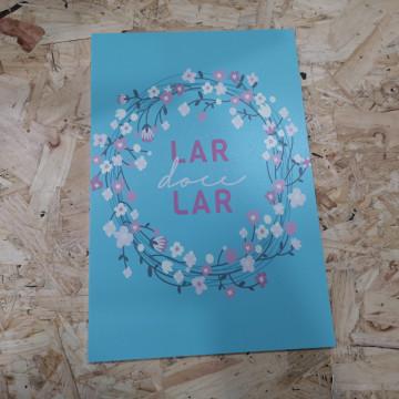 Placa Decorativa em PVC - Lar doce Lar